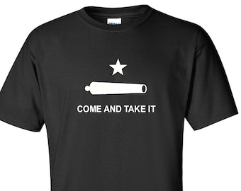 Texas Revolution T-Shirt Come And Take It Canon Texan Shirt S-2XL