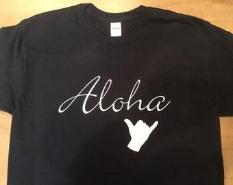 3ad8bf3412 Aloha T-Shirt Hawaii Shirts, Shaka, Hawaiian, Surfing Surfer Funny Tees Tee  Short Sleeve Shirt