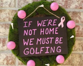 Breast Cancer Awareness Handmade Golf Wreath
