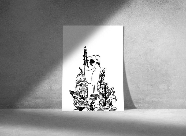 Helter Skelter Digital Art Print. Printable download. image 0