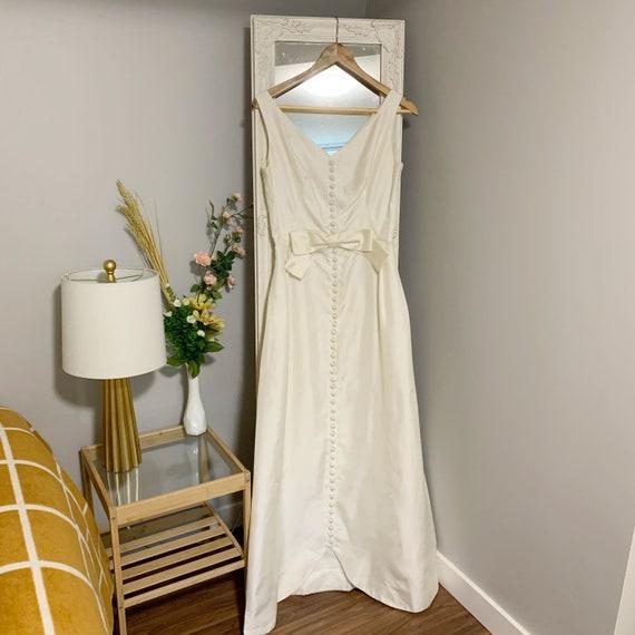 1960s Ivory Raw Silk Wedding Dress