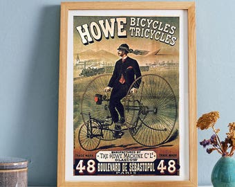 Bicycle Print - Sport Wall Art Print - Vintage Advertising Print - Antique Advertising Poster - Home Decor - Office Wall Art - Gift Idea
