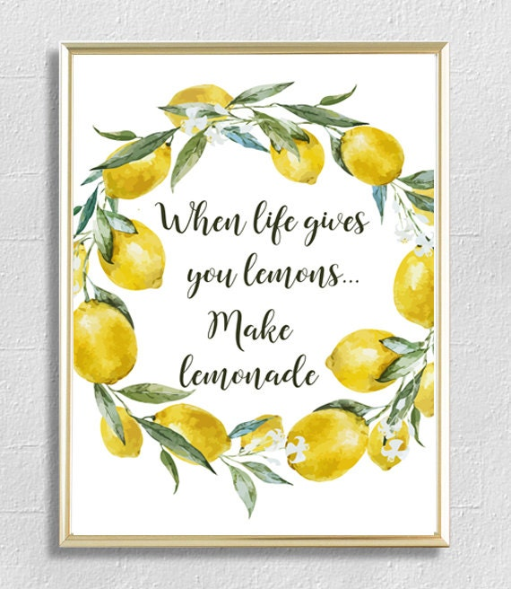 When Life Gives You Lemons Kitchen Wall Art Kitchen Decor Etsy