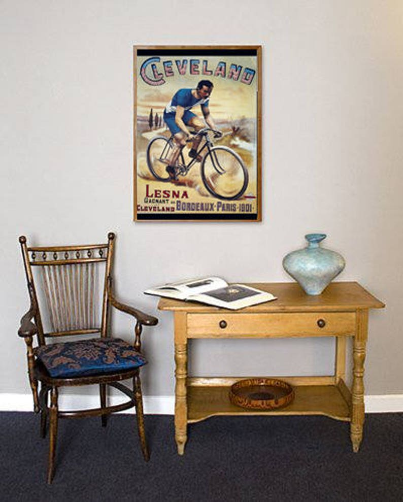 Cleveland Poster Transport Poster Vehicle Print Bicycle Poster Bicycle Wall Art Print Wheels Poster