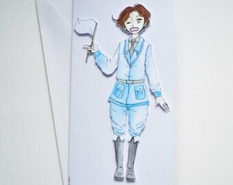 Italy - Hetalia Handmade Greetings Card - Happy Birthday - Well Done - Thank You - Friend Card - Blank