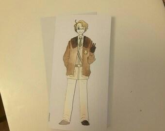 America - Hetalia Handmade Greetings Card - Happy Birthday - Well Done - Thank You - Friend Card - Blank