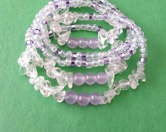 HONEY JADE Waist beads with healing crystals