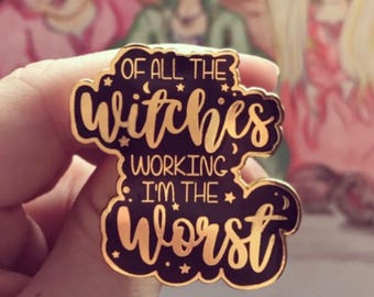 Witches Enamel Pin
