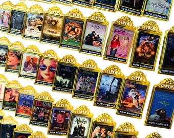 Cinema/Movie Poster Enamel Pins | Horror Classics Pop Culture Halloween Funny Comedy Romance | Gifts for Him | Gifts for Her | Birthday Gift