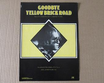 Free Shipping in USA  Rare 1973 Elton John Goodbye Yellow Brick Road US Sheet Music  3033