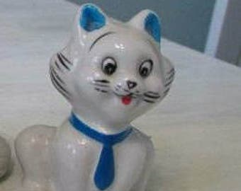 CLEARANCE FREE Shipping Gift for that Special Cat Person Smiling Adorable Cat  with Blue Tie  522