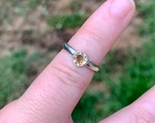 Argentium sterling silver Citrine stackable ring
