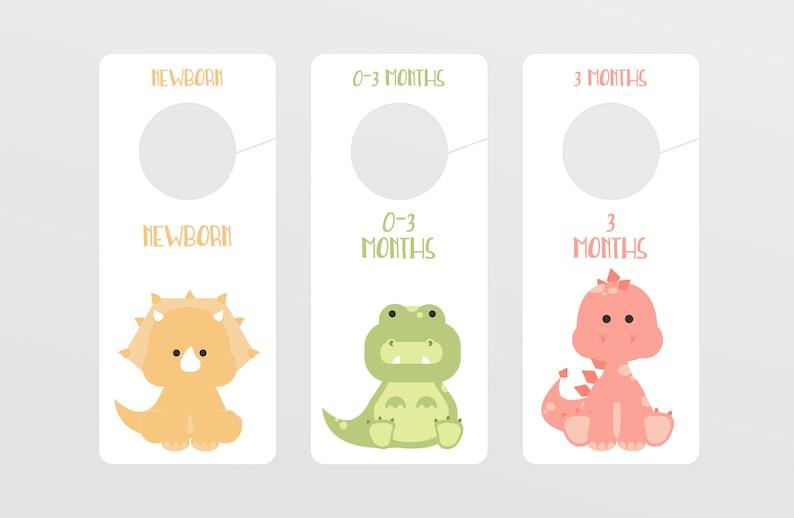 Dinosaur Printable 8 Nursery Labels & 9 Closet Dividers image 0