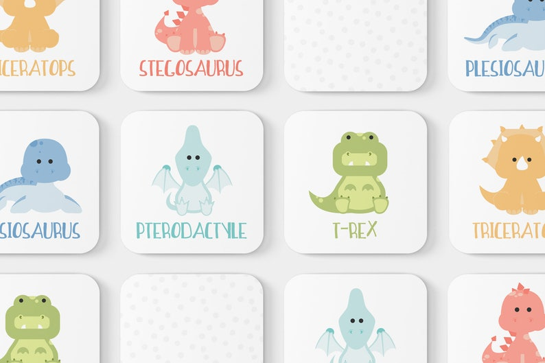 Dinosaur Memory Game and Educational Toy for Toddler  Easter image 0