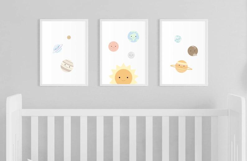 Digital Download Planets Solar System Nursery Print image 0