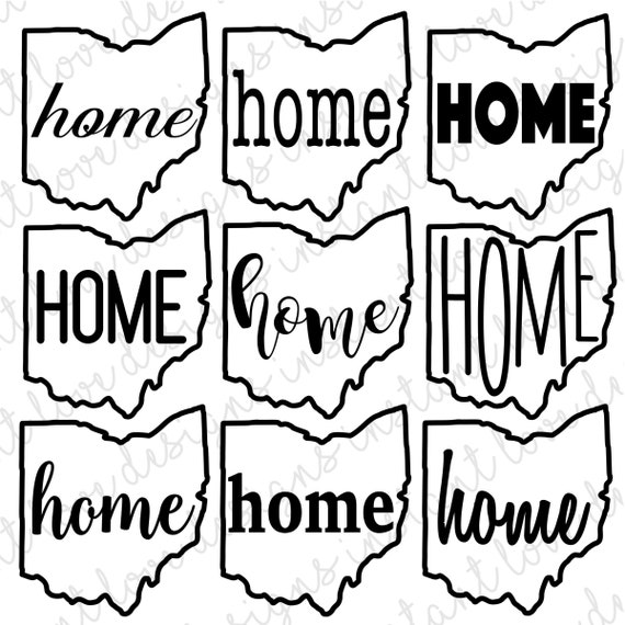 Ohio State Home Svg Bundle Graphic Pack Digital Download Etsy