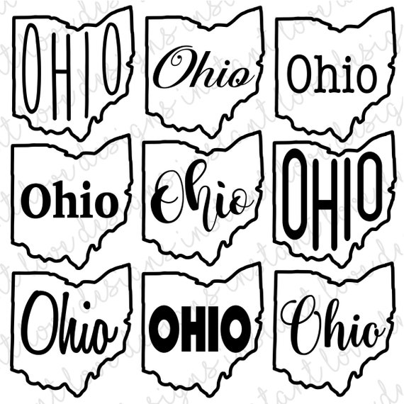 Ohio State Svg Bundle Graphic And Design Pack Png Jpg Etsy