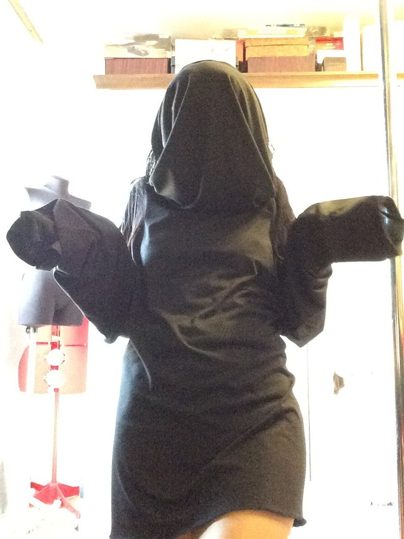 Large Hooded Collar Dress Hoodie Casual Hoodie Tunic