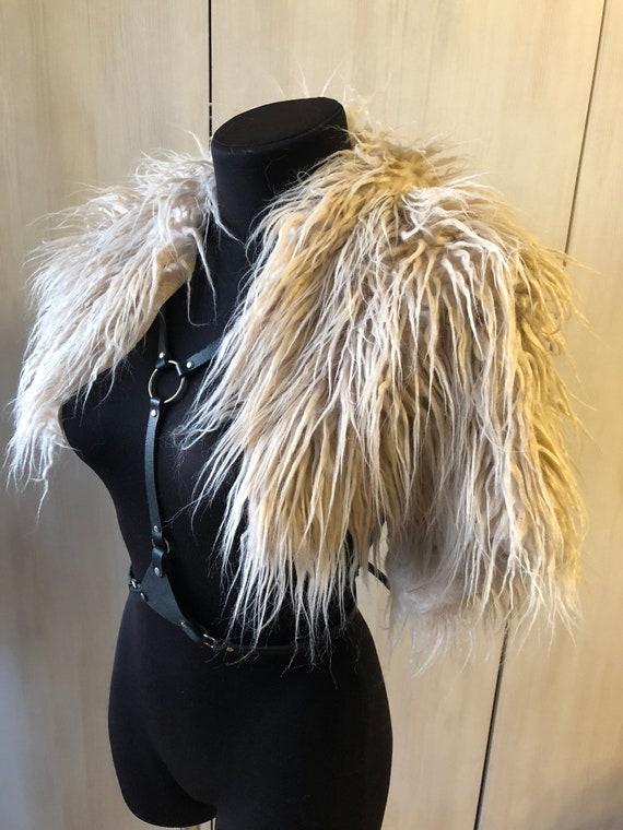Ivory Creamy Faux Fur Collar Cape Collar Alpaca Fur Collar  6a3baa057