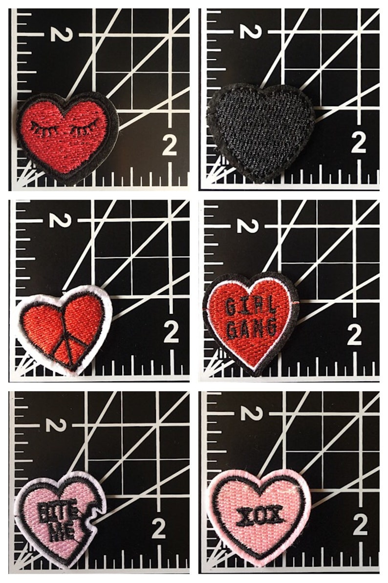 Skull Pink Heart iron-on//sew-on patch REDUCED