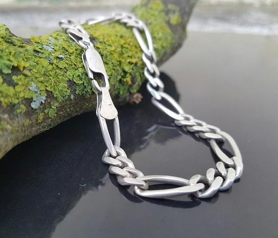 Men Bracelet 925 Solid Sterling Silver Elegant Chain Classic Link size 7 8 9 10