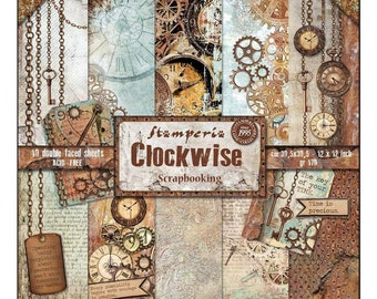 Clockwise Mannequin New Stamperia Rice Paper A4 DFSA4286