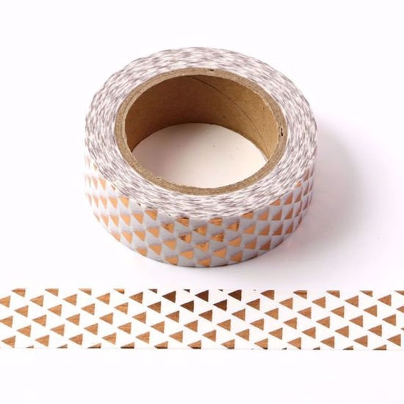 2 x 15mm x 10 Metre Rolls Foils Coppers Gold Washi Tape 2 Roll Washi Tape Sets