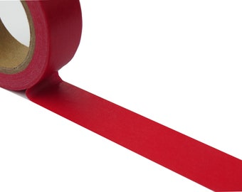 Plain Red Solid Colour Washi Masking Tape