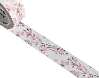 Pink Cherry Blossom Flower Washi Masking Tape