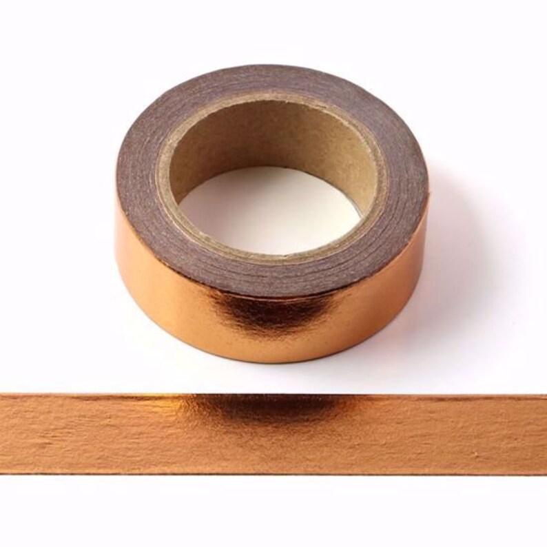 Copper / Rose Gold Foil Washi Tape  Lovely Solid Copper Foil image 0