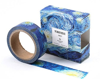 The Starry Night Washi Tape Inspired By Van Gogh