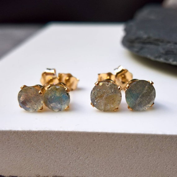 Labradorite /& Mixed Stone Cluster Earrings