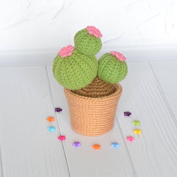 Häkeln Kaktus Amigurumi Pflanze Stricken Gefüllt Spielzeug Etsy