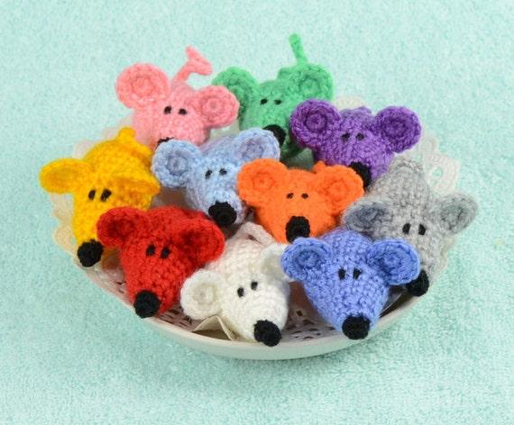 Kleine Muis Speelgoed Amigurumi Knit Dierlijke Kleine Haak Etsy