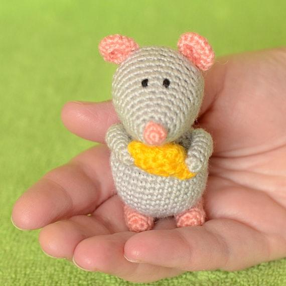 Maus Häkeln Spielzeug Stricken Tier Gefüllte Weiche Plüsch Etsy