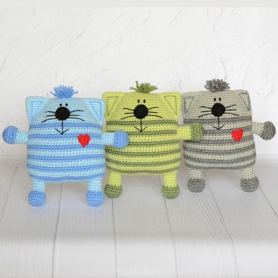 Kuscheltier Häkeln Katze Plüsch Amigurumi Kätzchen Katze Etsy