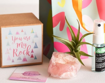 You Are My Rock Appreciation Gift, Pink Mom Gift, Rose Quartz Crystal Thank You Gift For Mentor Unique Gift Idea Best Friend Gift For Bestie