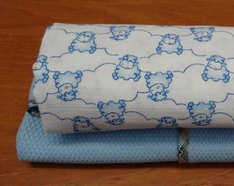 Swaddle blankets  -  Muslin  and  Waffle weave Cotton