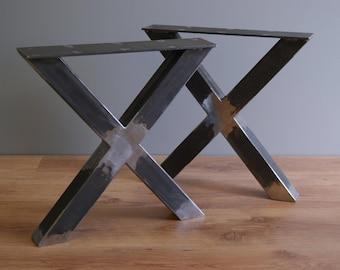 X shape bench legs , steel bench legs, bench base, powder coated (SET OF 2)
