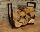 Steel firewood rack,  firewood holder, log holder, firewood storage - small