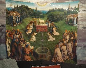 Adoration Of The Mystic Lamb Jan Van Eyck Renaissance Tapestry (Printed)