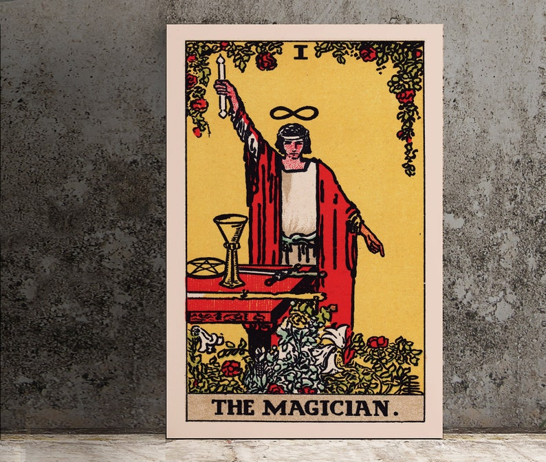 The Magician- Tarot Card Print - The Magician Card Poster, No Frame