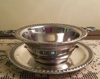 Vintage Silverplate Mayo Bowl with Saucer by Wilcox
