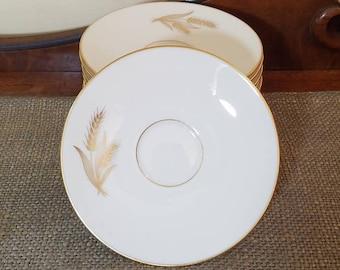 "Lenox 6"" Saucer Set of 12 in Wheat Pattern, R-442 Wheat by Lenox"