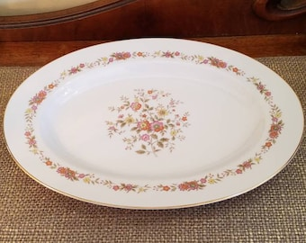 """Royal Wentworth Oval Serving Platter Marcia Pattern 51/216S, 14"""" Long Serving Plate"""