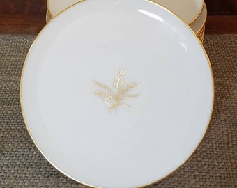 """Lenox 6 1/4"""" Bread and Butter Plate Set of 12 in Wheat Pattern, R-442 Wheat by Lenox"""