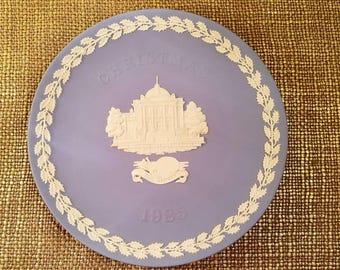 "SALE!!! Wedgwood Blue Decorative Plate Jasper ware - Christmas 1985, 8 1/4"" Diameter Tate Gallery,"