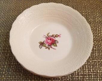 """Vintage Spode Dessert/Fruit Bowl  - Set of 2 - 5 1/4"""" Diameter - Billingsley Rose Pink (New back stamp) - England - Jewel Copeland"""