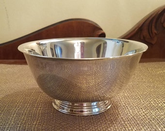 Vintage Oneida Silverplate Bowl Paul Revere Reproduction, Oneida Silversmiths