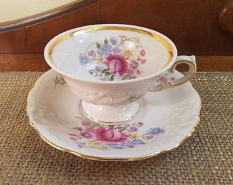 Wawel Sonata Fine Bone China Teacup and Saucer, Scalloped Edge Teacup & Saucer